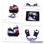 miniatura 4 - Hand Painted Retro OG Pair of 3D Mini Shoe Keychains with Box Court Purple White