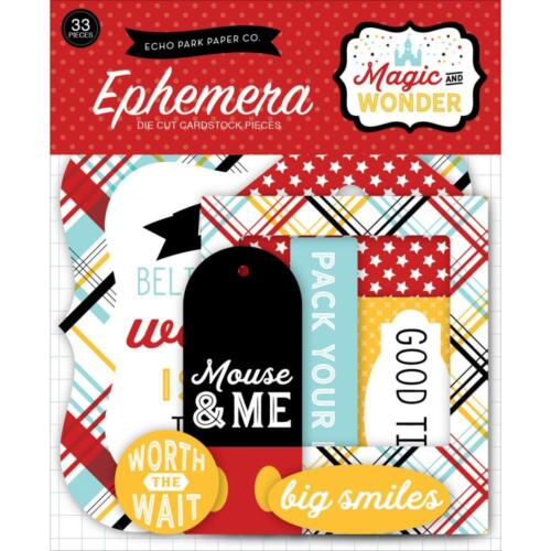 Echo Park ~ MAGIC AND WONDER ~ Die Cuts Ephemera ~ Disney