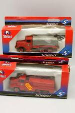 Solido Pompiers 1/50 - Lot de 2 Berliet - Kaiser