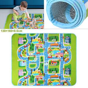 Children-039-s-Rugs-Town-Road-Map-City-Rug-Play-Village-Mat-130x160cm-Playmat-Kids