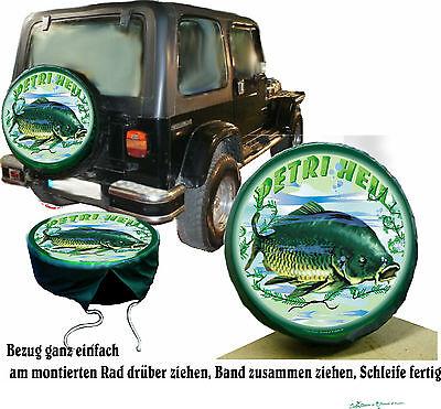 Angler Fischer KarpfenFisch SpiegelKarpfen Auto SUV Reifen Bezug maßgeschneidert