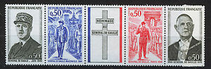 FRANCIA-FRANCE-1971-MNH-SC-1322-25a-Charles-de-Gaulle