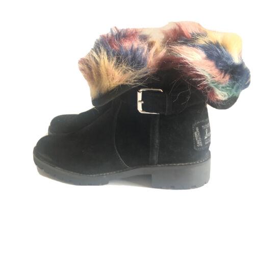 Sam Edelman Jeanie Black Suede Boot Size 7