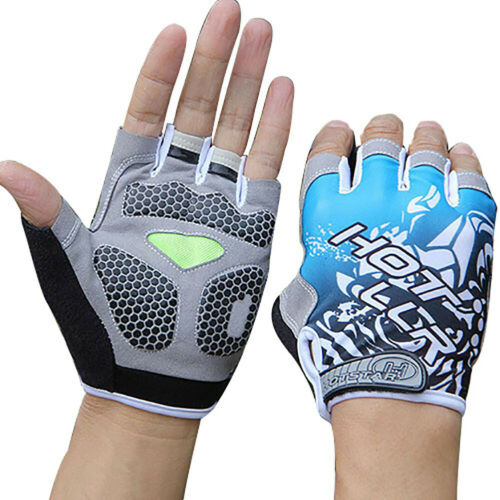 Unisex Cycling Gloves MTB Bike Half Finger Bicycle Palm Gel Silicone Fingerless