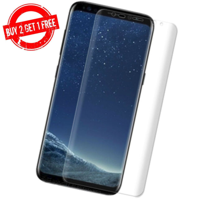 Samsung Galaxy S8+ PLUS Full Coverage Clear Case Friendly Film Screen Protector