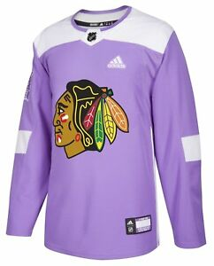 4b47e635eb4 Image is loading Chicago-Blackhawks-Adidas-Hockey-Fights-Cancer-Men-039-