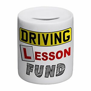 Driving-Lesson-Fund-Novelty-Ceramic-Money-Box