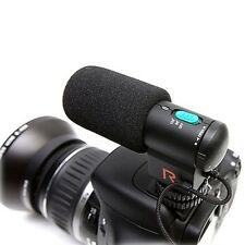 Black DV/Camera Stereo Microphone for Canon Nikon Pentax DSLR Camera Camcorder