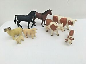 Bundle-Collection-Of-BULLYLAND-animals-cows-horses-sheep-toy-animals