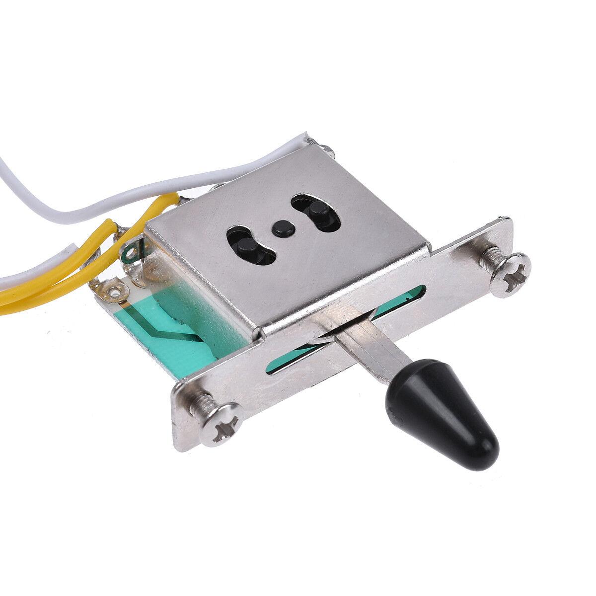 electric guitar wiring harness prewired kit 5 way 250k 2t1v pots for strat parts ebay. Black Bedroom Furniture Sets. Home Design Ideas