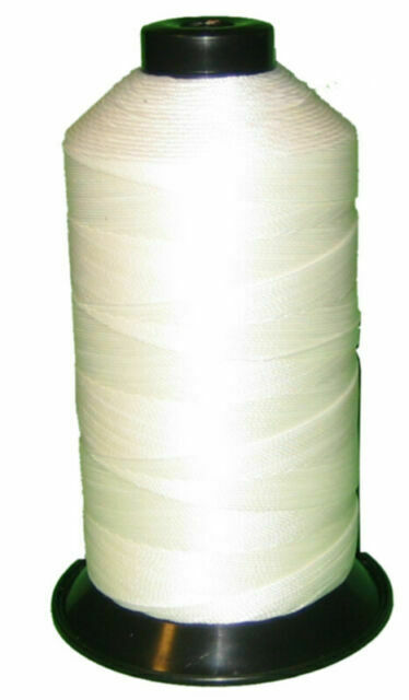 2 spool Black /& White Bonded Nylon sewing Thread v 207 T210 Upholstery  leather