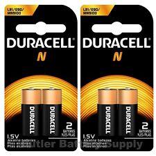4 x N Duracell 1.5V Alkaline Batteries ( Medical, LR1, E90, MN9100 )