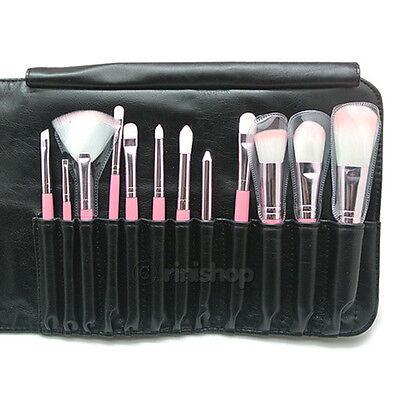 [Flalia] Make Up Powder Shadow Lip Foundation Brush Set Leather Pouch rinishop