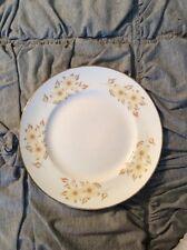 Crown Staffordshire bone china England Sala Luncheon plate yellow flowers