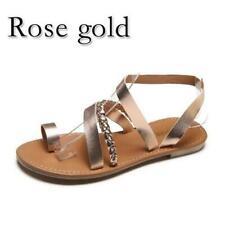 c3b2ef18cca UGG Lorrie Metallic Rose Gold Leather Imprint Flip Flop Sandals US 8 ...