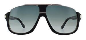 67f286dfc5f Tom Ford Elliot FT0335 Sunglasses Matte Black 02W Blue Gradient ...