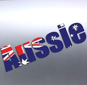3dbd07f1ba Aussie word with Australia flag Pride Day Car Boat vinyl sticker ...