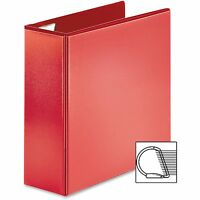 Sparco D-ring View Binder, 4 Capacity, 11x8-1/2, Red 26983 on sale