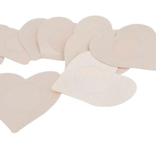 Womens Reusable Adhesive Petal Shaped Breast Nipple cover cap Fabric Bra Pad x50