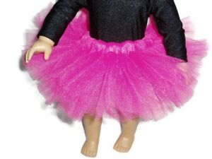 Hot-Pink-Tutu-18-inch-Doll-Clothes-fits-American-Girl-dolls-Ballet-Dance