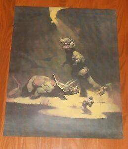 Frank-Frazetta-Tyrannosaurus-Rex-Poster-Original-1979-Promo-23x18-Dinosaur-T-Rex