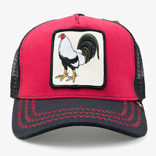 New Gold Star Mens Fighting Cock Red and Black Trucker Hat - One Size