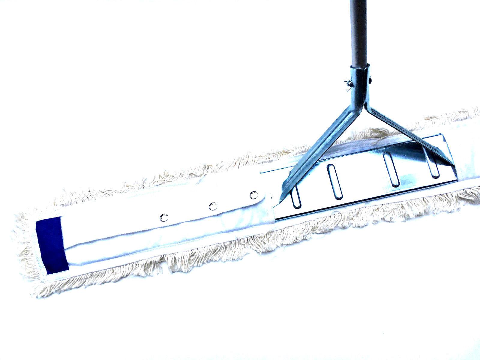 110 cm Wischmop Set Mophalter T- Stiel Staubmop Bodenwischer Mop für Sporthallen | Verschiedene Stile und Stile  | Fairer Preis