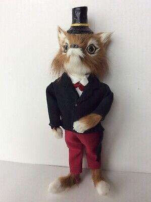 Vtg Fantastic Mr Fox Art Doll Figure Real Fur Tux Top Hat Anthropomorphic 8 Hunt Ebay