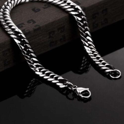 Silver Men/'s Stainless Steel Chain Link Bracelet Bracelet Bangle Bijoux Punk