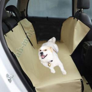 Waterproof-Dog-Car-Seat-Cover-For-Cat-Pet-SUV-Van-Back-Rear-Bench-Hammock-Khaki