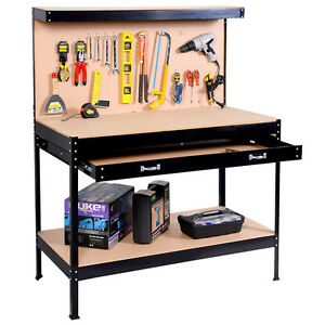 metal workbench with drawers. image is loading work-bench-tool-storage-steel-frame-tool-workshop- metal workbench with drawers s