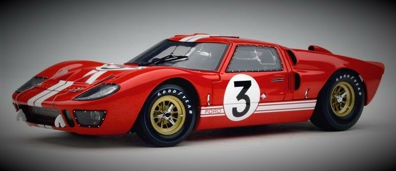 Racing Ford Ford Ford 1967 GT GT40 Vintage Sport Race Car Exotic Rare 1 18 Carousel Red 12 eeacc3