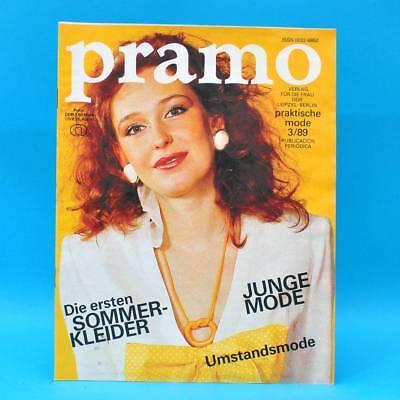 Schnelle Lieferung Ddr Pramo 3/1989 Praktische Mode Schnittmuster Umstandsmode Sommerkleider G