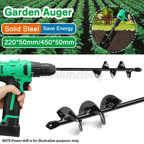 18/'/' Planting Auger Spiral Hole Drill Bit For Garden Yard Earth Bulb Planter