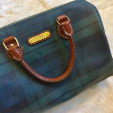 80s Vintage Polo Ralph Lauren Tartan Plaid Bag Purse Green VTG Speedy