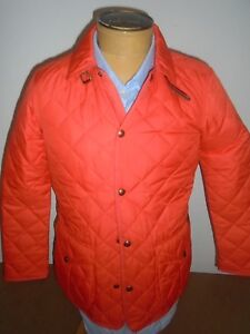 Polo-Ralph-Lauren-Orange-Quilted-Barn-Jacket-NWT-Small-345