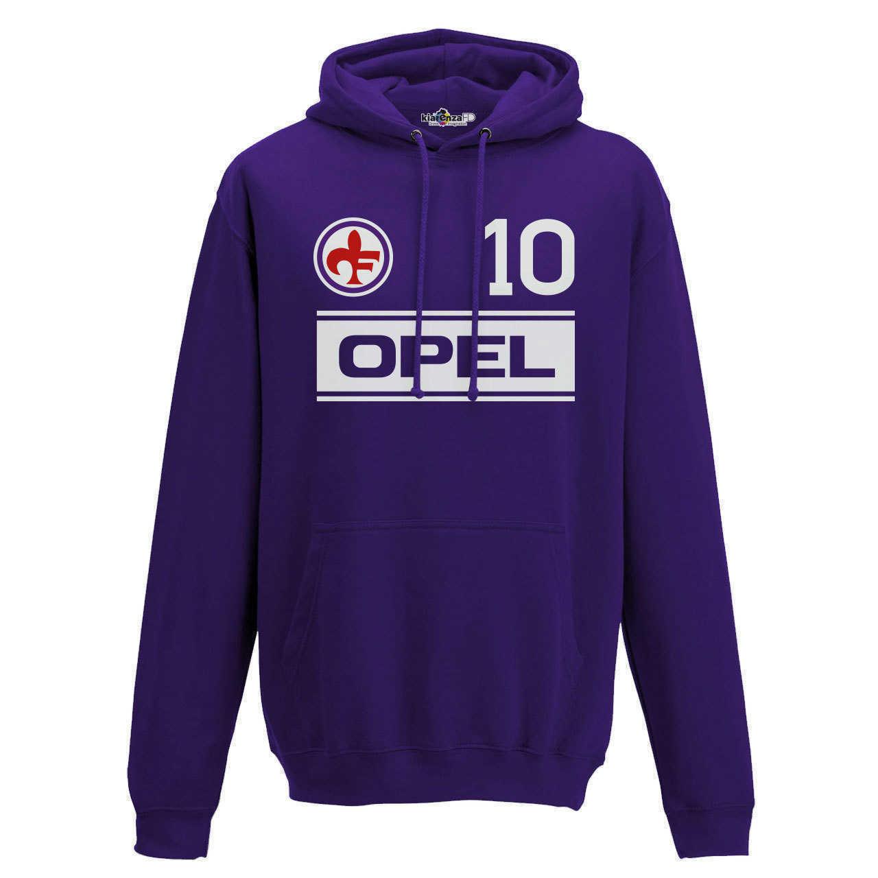 Felpa Cappuccio Calcio Vintage Giancarlo Fiorentina 10 Antognoni Stagione 83-84 - Shopping.com