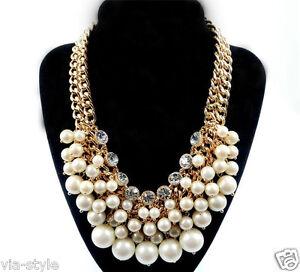 xl perlen kette collier statement halskette perle. Black Bedroom Furniture Sets. Home Design Ideas
