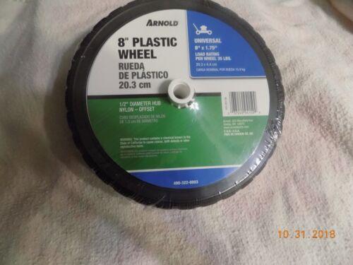 "Load Rating Plastic Mower Wheel 490-322-0003 Arnold 8/""x1.75/"" 35 LBS"