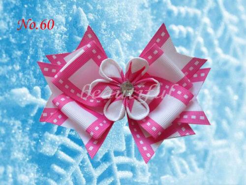 """Snowflake Hair Bow Clip FROZEN 178 No. 50 BLESSING Good Girl Boutique 4.5/"""" E"""