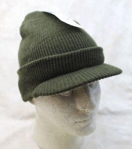 89db7cd93e5d48 GENUINE US ARMY OD GREEN WOOL JEEP CAP RADAR HAT MILITARY ISSUE ...