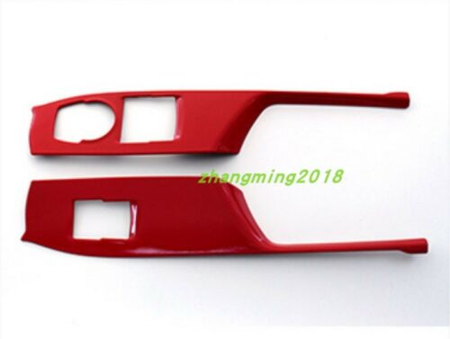 Red Inner window switch panel cover Tirm For Chevrolet Camaro 2016 2017 2018