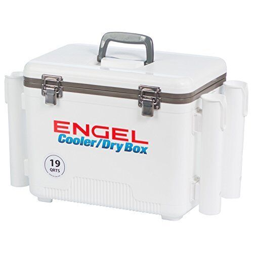 Best Air-tight Cooler Dry Box - 19 Quart Weiß with 4 Rod Holders (Bestseller)
