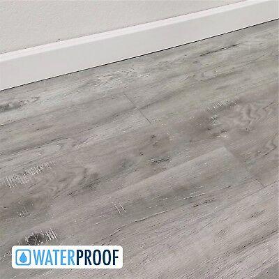 Cool Gray Sawn Waterproof Click Vinyl