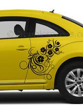 VW Beetle Custom Vinyl Graphic Decals 2 x Flower Vinyl Graphic Car Stickers