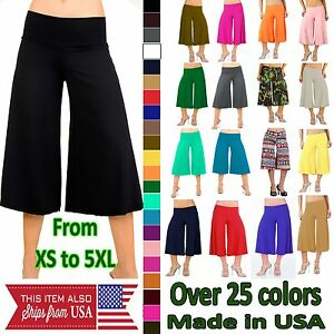 Plus Size Gaucho Pants | eBay