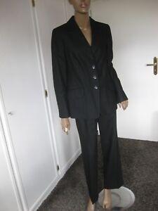 hosenanzug damen schwarz schurwolle