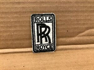 """VINTAGE ORIGINAL 1950/60'S EMBROIDERED ROLLS ROYCE JACKET PATCH 2.75"""" X 1.5"""""""