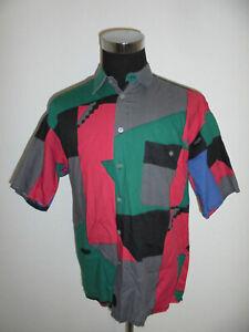 vintage MARIO`S Hemd Crazy Pattern 80er Freizeithemd 80s oldschool shirt Gr.L