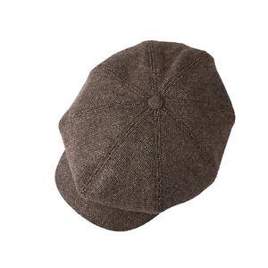 f03a76c35e028 Unisex Mens Tweed Wool Baker Boy Newsboy Gatsby Flat Cap Cabbie Hats ...